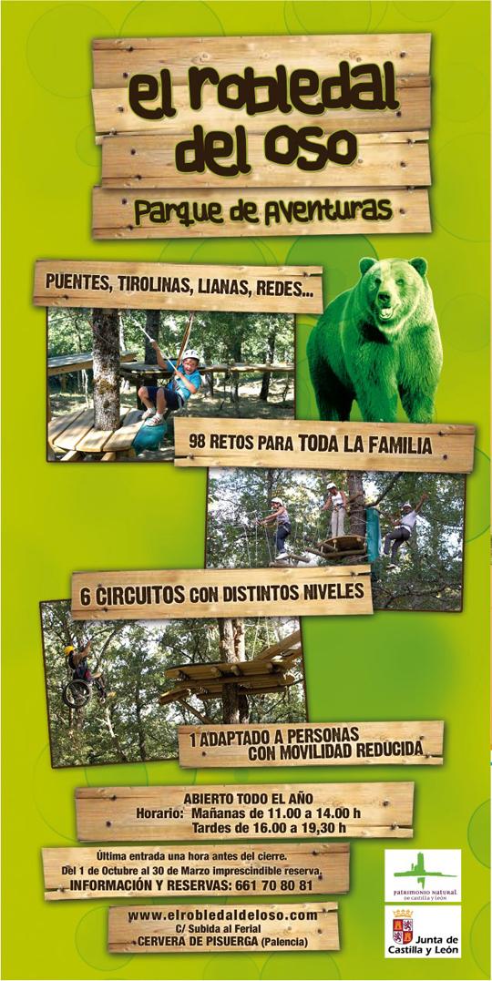Parque De Aventura El Robledal Del Oso Cervera De Pisuerga