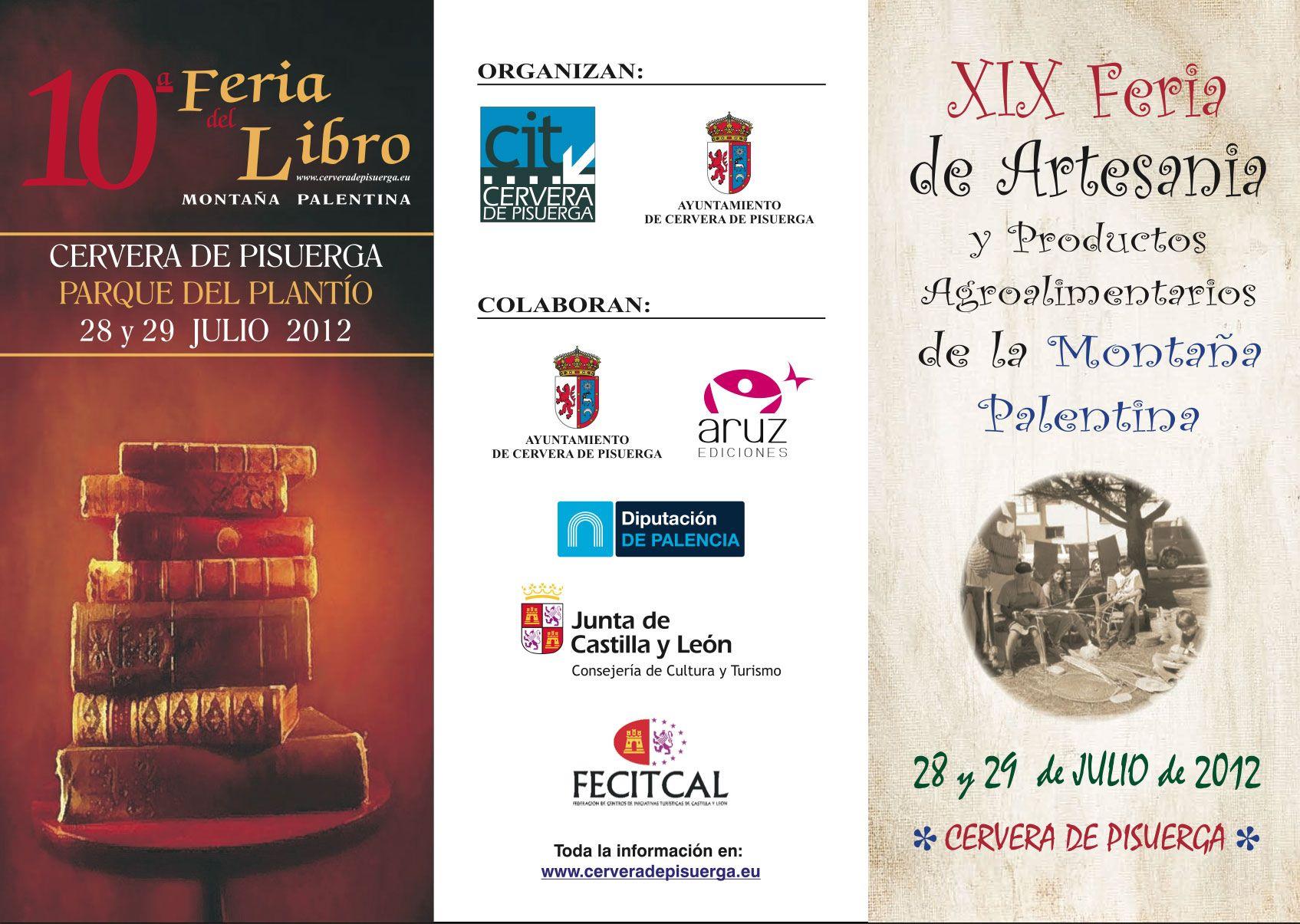 Feria de Artesanía y Productos Agroalimentarios y del Libro (28 y 29 Julio)