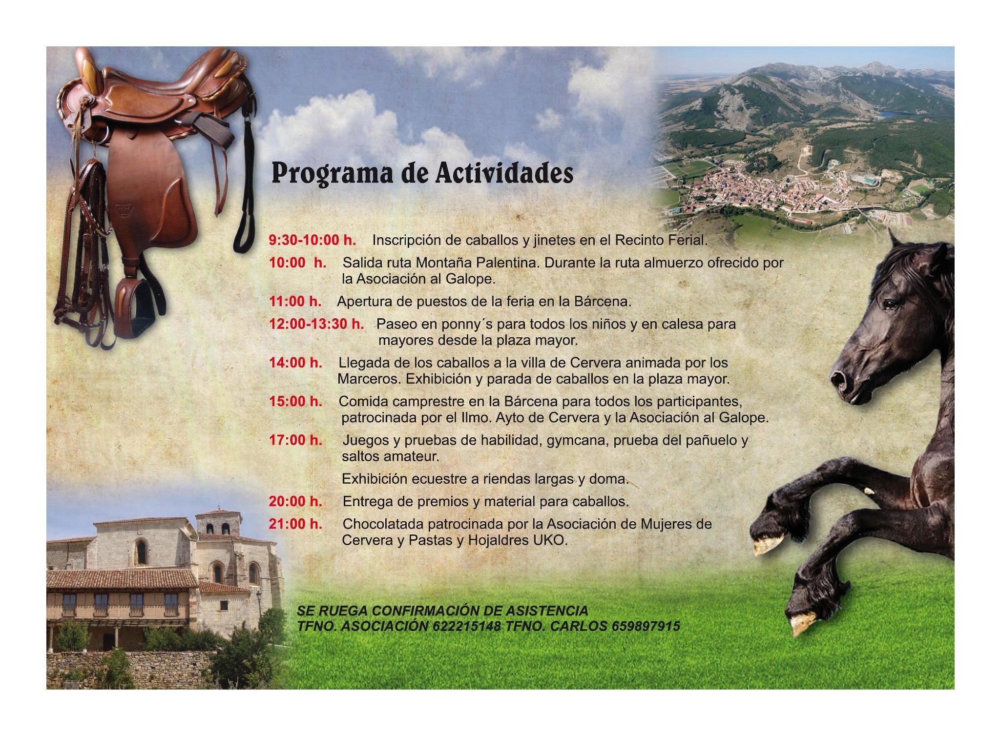 Programa de actividades de la 2ª Feria Ecuestre de Cervera de Pisuerga