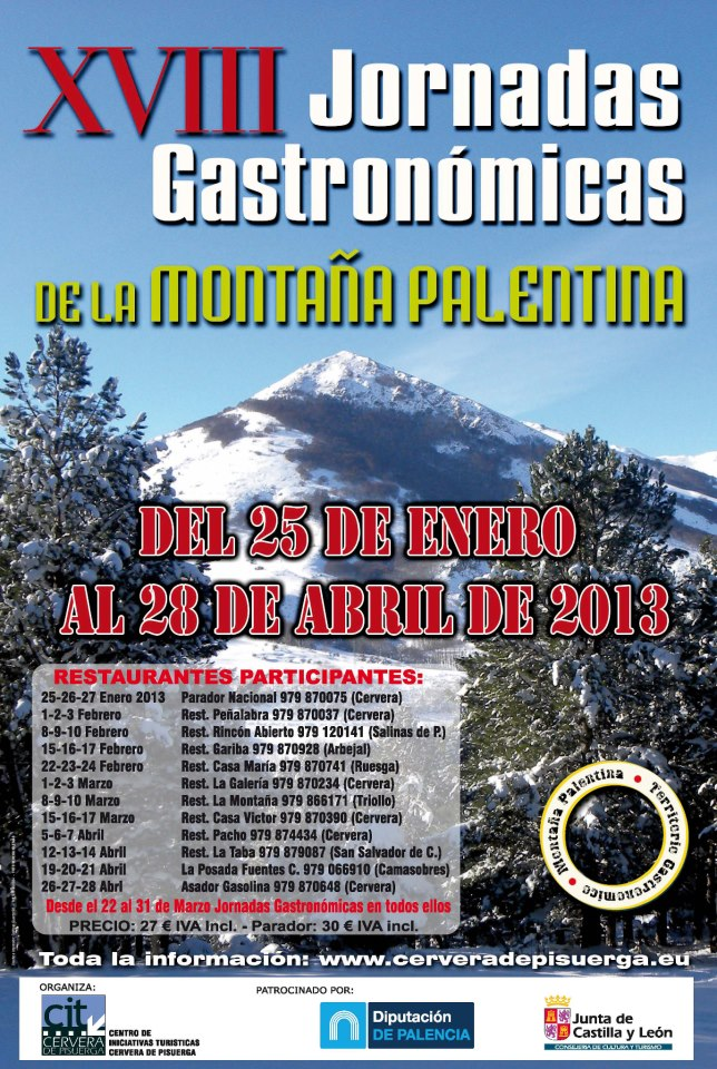 XVIII Jornadas Gastronómicas de la Montaña Palentina