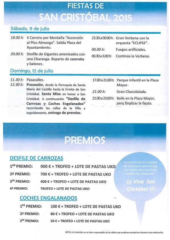 Programa San Crsitóbal 2015
