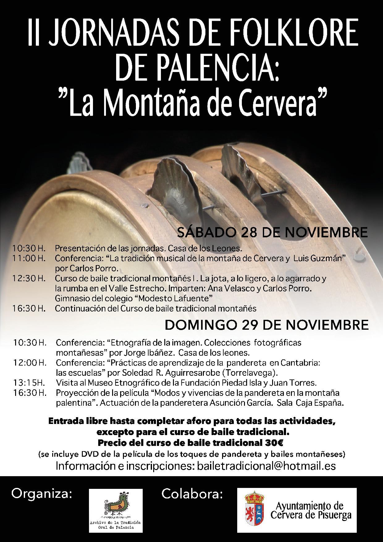 II Jornadas de Folklore de Palencia: La Montaña de Cervera