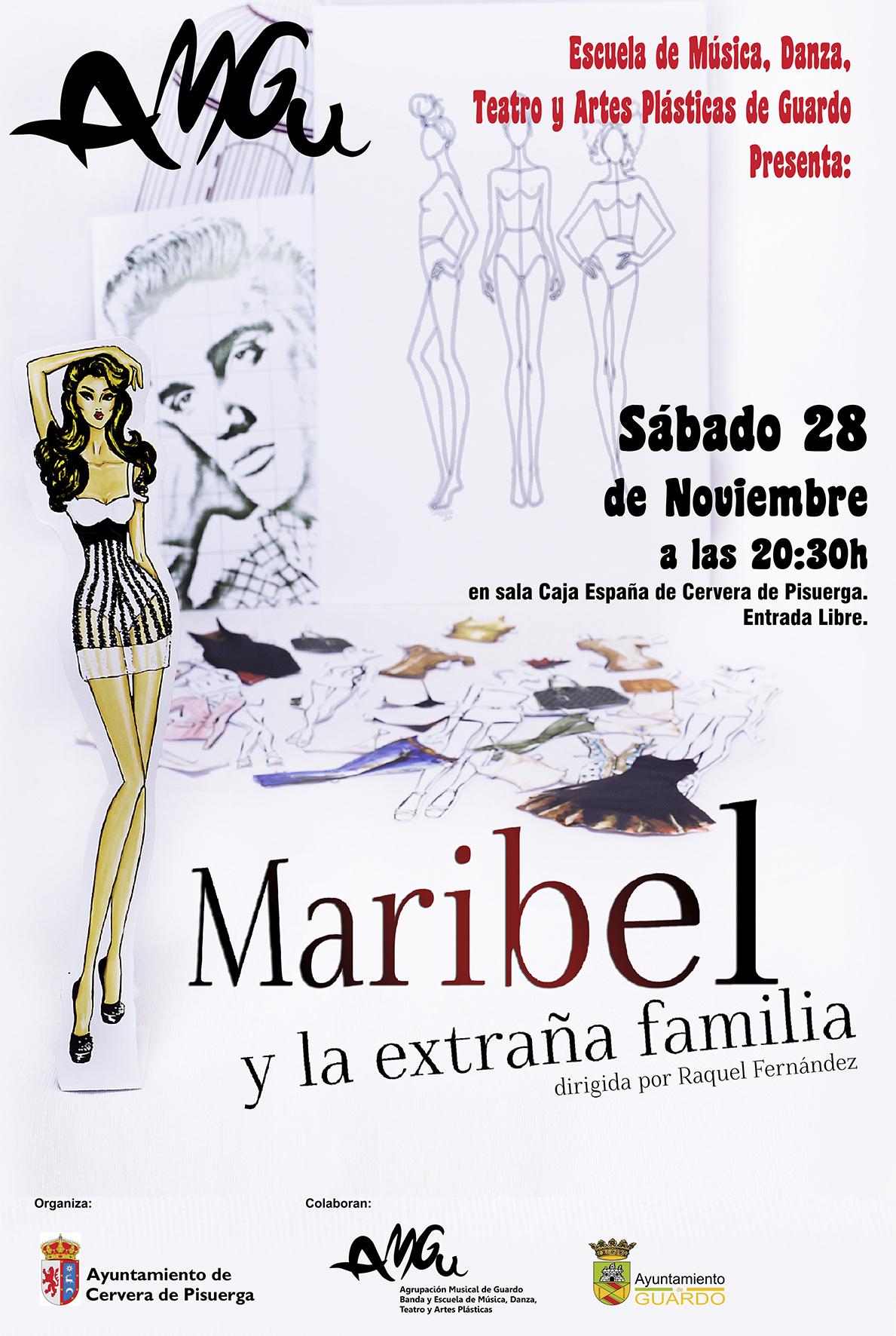 """Grupo de Teatro AMGU presenta la obra """"Maribel y la extraña familia"""""""