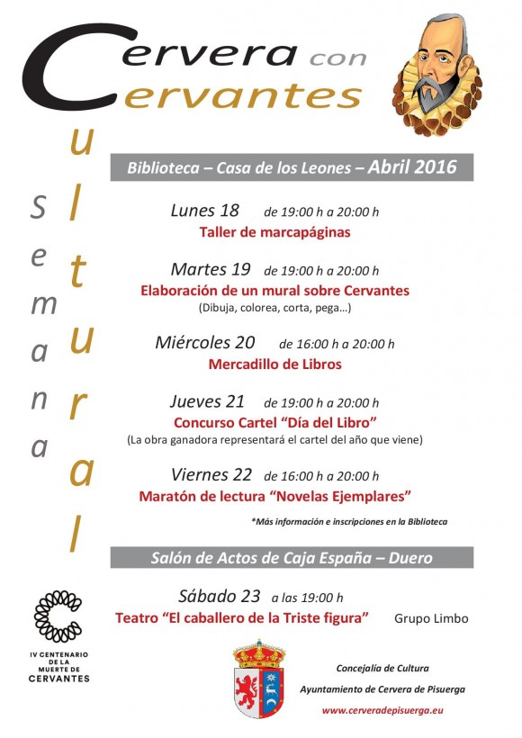 Programa Cervera con Cervantes
