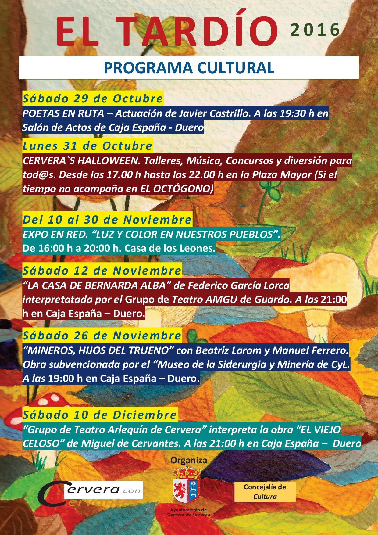 Programa cultural-EL TARDÍO 2016
