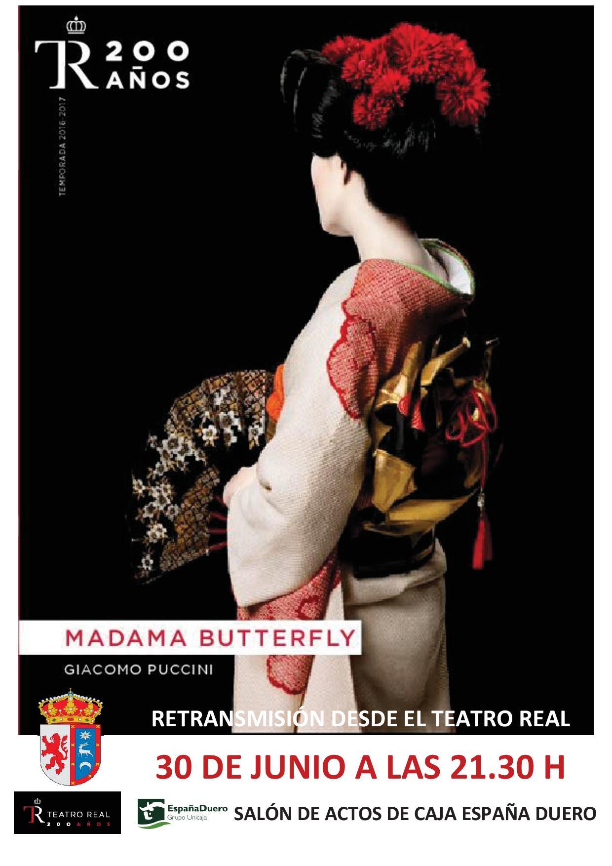 Madama Butterfly. Retransmisión desde el Teatro Real en el Salón de Actos de Caja España Duero